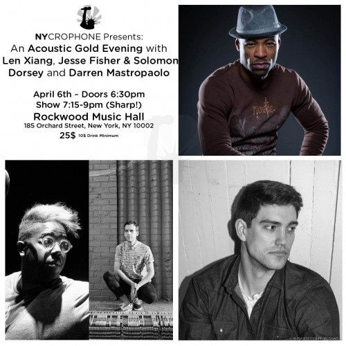 "An ""Acoustic Gold"" Evening with Darren Mastropaolo, Jesse Fisher & Solomon Dorsey and Len Xiang!"